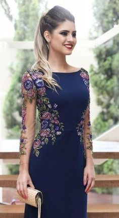 Ideas For Embroidery Dress Girl Ideas Elegant Dresses, Pretty Dresses, Beautiful Dresses, Formal Dresses, Hijab Fashion, Fashion Dresses, Dress Skirt, Lace Dress, White Dress