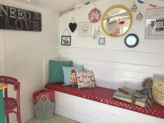 Millie's Beach Huts – Beach Hut Hire - A Fantastic Family Day Out! – The Unconventional Mummy Beach Hut Interior, Family Days Out, Play Houses, Gallery Wall, Beach Huts, Parlour, Allotment, Interior Design, Ice Cream