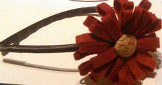 Diadema de niña en tonos  granates y marrones es una de mis creaciones de este invierno