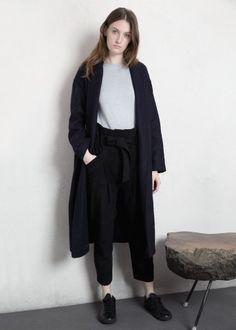 Premium - belted wool-blend coat - Women | MANGO