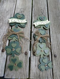 CELTIC WEDDING SHAMROCKS  LarGe DECoRATIONS for by TheCelticHeart, $45.99