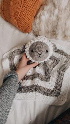Crochet Lamb Baby Lovey