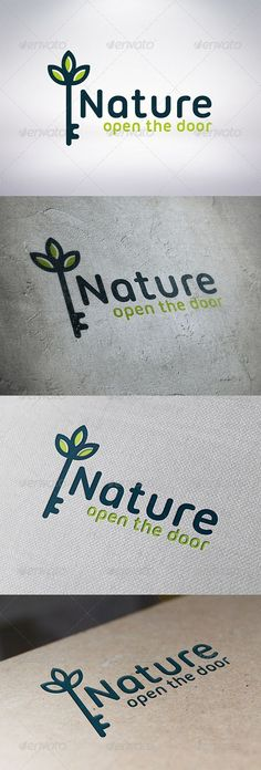 Natural Key Logo Template