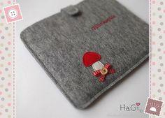 Felt Ipad Case Handmade Tablet-PC Case Toadstool