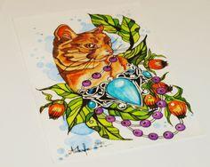 Cat tattoo design by @ankafaink