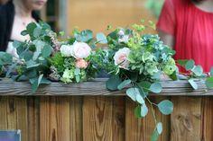 飯田橋ラ・ブラスリー様の装花 夏の終わり、秋のはじめ くすだまにあわせて
