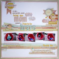 This is an incredibly beautiful AND meaningful layout from Karen Grunberg. More in this blog post as well!