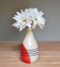 Red Stripes Stoneware Bud Vase | Collections Coffee & Tea | Toast Ceramics | Scoutmob Shoppe | Product Detail