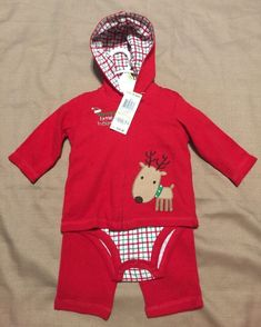 First Impressions Baby Boy Christmas Three-Piece Outfit Size 3–6 Months 24c94a651