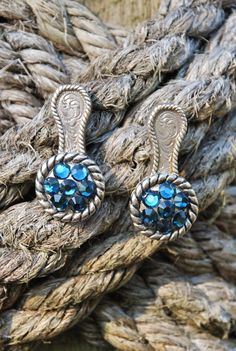 Western Rodeo Cowgirl Concho Earrings  by SolisOccasusBling