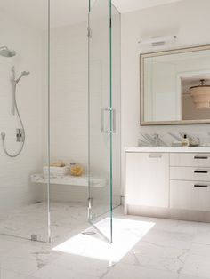 Looking for a Walk-In Showers? We'll help you design one! Walk-in showers are safer, stylish, utilitarian and help the elderly age in place. Here are 46 gorgeous Walk-In Shower Ideas, guaranteed to inspire your next