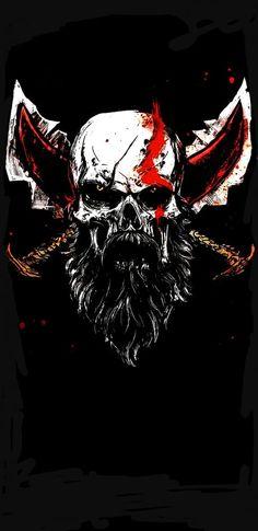 Skull Kratos (1440x2960)