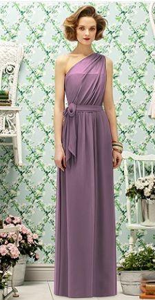 Dessy: long lavender Greek styled bridesmaid dress RJB: Love this lavender one, too. Lavender Bridesmaid Dresses, Beautiful Bridesmaid Dresses, Bridesmaid Outfit, Wedding Dresses, Bridesmaids, Roman Fashion, Greek Fashion, Braids Maid Dresses, Evening Dresses