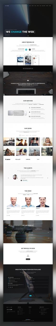 Brooklyn | Creative Multi-Purpose WordPress Theme agency, business, clean, construction, corporate, creative, gaming, hotel, modern, one page, photography, portfolio, real estate Latest Update September 12, 2017 WordPress 4.8+ Ready Brooklyn, a truly multipurpose parallax WordPress theme with more than one face. No matter if you use it as a photographer, travel / web design agency, hunting, ...