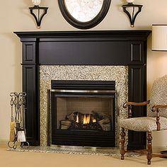 Need something with narrow sides for the fireplace.  I like the look of this.  Not sure about the black though.
