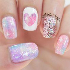Nailpolis Museum of Nail Art | Pink Galaxy Nail Art (no nail art tools needed) by elleandish