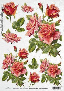 Papier - ryžový papier ruže - 5863373_