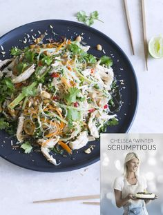 Coconut-poached Thai chicken noodle salad | Chelsea Winter