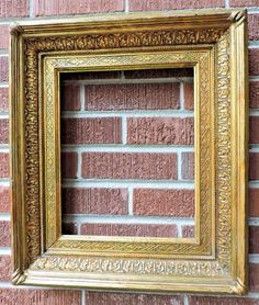 Antique 19C Ornate FRENCH SALON Picture Frame GILT Gold Compo Wood 11 x 13.5 #Victorian #unknown Antique Picture Frames, Old Frames, Antique Frames, French Salon, Salon Pictures, Vintage Antiques, Victorian, Wood, Artwork