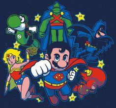Geeky Hero Mashup Art