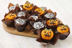 Muffins mit Halloween Topping - glutenfrei und lecker