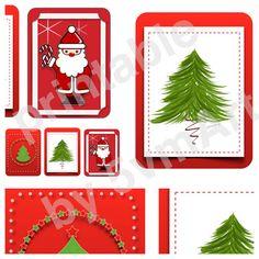 Set 3 card per project life o come segnapagina per organizer con illustrazioni personali dedicate al Natale. Printable sul mio negozio etsy