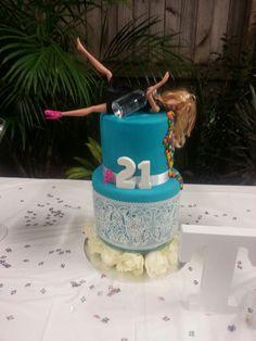 Drunk Barbie Cake #drunk #barbie #cake