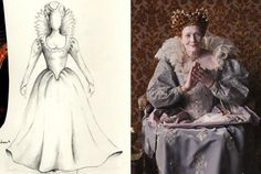 Vanessa Redgrave as Queen Elizabeth I and costume design by Lisy Christl | Anonymous | 2011