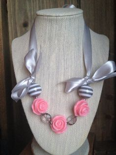 Romantic Rose Pink and Grey by BecksCustomCreations on Etsy, $12.00