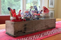 Rustic Barnwood Box centerpiece mantle by LennyandJennyDesigns