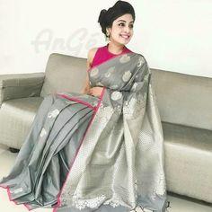 "e46f4288d15 Soft silk sarees with all over design Grand pallu Running blouse Ready to  dispatch  softsilksarees  grandpallu…"" Fancy ..."