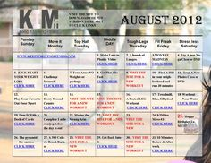 YOUR AUGUST WORKOUT CALENDAR IS HERE!