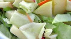This is our favorite cole slaw recipe, a yummy combo of fruit and veggies in a sweet dressing.