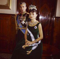 Farah Diba Pahlavi 3ème épouse du Shah d'Iran
