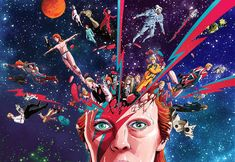 David Bowie Tribute, David Bowie Art, Moonage Daydream, Graphic Design Illustration, Home Art, Surrealism, Fan Art, Gallery, Creative