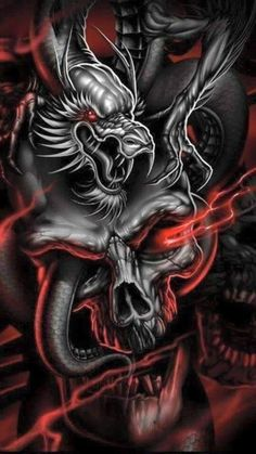 Ideas Tattoo Dragon Skull Fantasy Art For 2019 Skull Tattoo Design, Dragon Tattoo Designs, Skull Tattoos, Body Art Tattoos, Tatoos, Skull Pictures, Dragon Pictures, Skull Artwork, Dragon Artwork