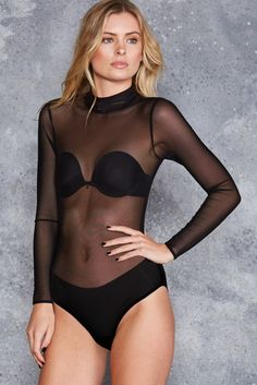 Mesh-Up Bodysuit - LIMITED