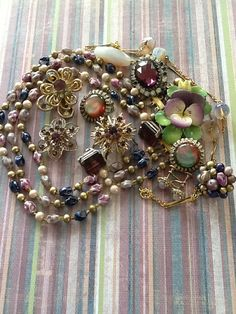 Destash Craft Lot Vintage Jewelry Amethyst Purple by QuiltsETC, $44.99