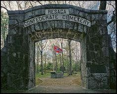 """Resaca Confederate Cemetery, Gordon Co. GA--This is a beautiful cemetery surrounded by a rock wall.  There are 424 graves marked """"unknown"""" and 100 known Confederates marked.  Of the 100 known, 20 are marked from Mississippi Regiments, 4 which were part of Adams' Brigade, Loring's Div., Polk's Corp, Johnston's Army of Tennessee in May 1864.  The known MS Regiments are 8th,9thSS,10th,14th,15th,22nd,24th,27th,29th,30th,34th,35th,37th, and 43rd."""