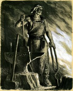 Ilmarinen the Eternal Hammerer blacksmith and inventor in the Kalevala is a god and an archetypal artificer from Finnish mythology He is immortal and capa Finland Culture, Norse Mythology, Russian Mythology, Gods And Goddesses, Black Art, Character Concept, Contemporary Artists, Archaeology, Illustrators