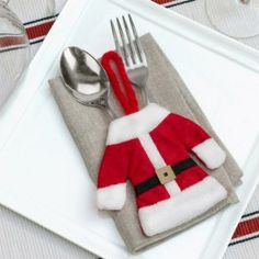 Traje de Papá Noel para Cubiertos - The Blue Store