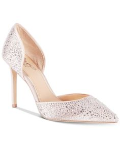Image 1 of Jewel Badgley Mischka Alexandra Embelished Pointed-Toe Evening Pumps Ted Baker Womens, Wedding Heels, Evening Shoes, Pointed Toe Pumps, Badgley Mischka, Pump Shoes, Hot Shoes, Women's Shoes, Bridal Shoes