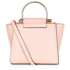 New Look Pink Metal Handle Mini Bag (£19) ❤ liked on Polyvore featuring bags, handbags, shoulder bags, accessories, new look, pink shoulder bag, miniature purse, pink purse, mini handbags and mini purse