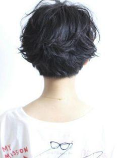 Short haircut back view