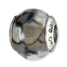 Sterling Silver Reflections Elements Squares Bali Bead