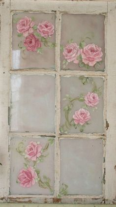 roses on windows