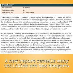 New report shows #DukeEnergy fails to pay taxes. More here: http://www.ips-dc.org/ending-tax-dodging-utilities-prompt-clean-energy-transition/  #inlegis #ingov