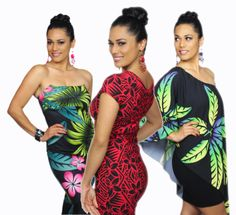 Resort Clothing Samoan Dresses.
