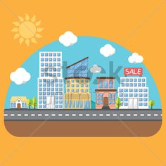 various buildings Stock Vector