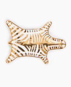 Jonathan Adler Metallic Zebra Dish- Gold